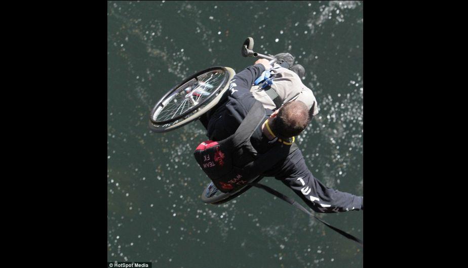 Deportista canadiense y sus alucinantes ca das sobre silla de ruedas foto 1 de 7 - Deportes en silla de ruedas ...