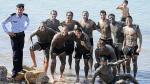 Uruguay festejó triunfo sobre Jordania en el Mar Muerto (FOTOS)
