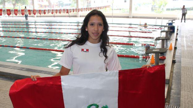 Andrea Cedrón dejó en segundo lugar a la colombiana Yenny Pellez, una de las favoritas en los Juegos Bolivarianos. (USI)