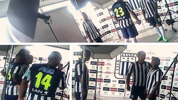 La nueva camiseta de Alianza Lima tiene la pecualiaridad de los números amarillos. (Internet)