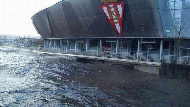 Sporting gij n estadio el molin n de espa a fue inundado - Fotos sporting de gijon ...