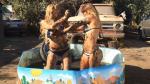Angie Jibaja: la sensual pelea de barro de la modelo (VIDEO)