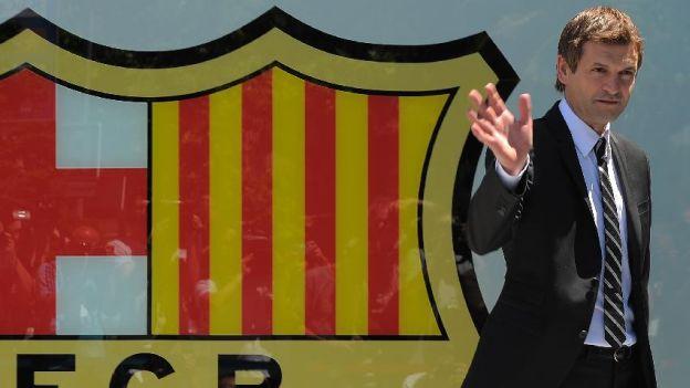 Tito Vilanova ganó la última Liga BBVA de España. (Reuters)
