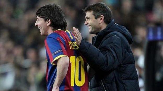 Tito Vilanova y Lionel Messi se llevaban muy bien en Barcelona. (Agencia)