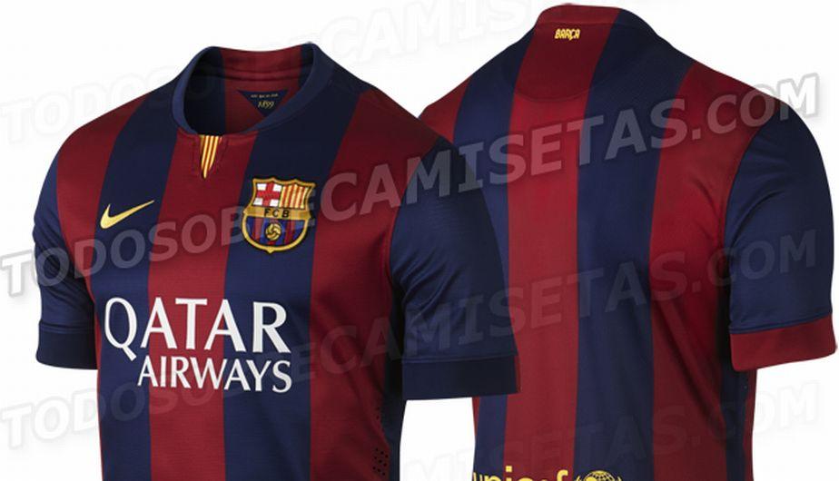 Barcelona  se filtró la nueva camiseta azulgrana para la temporada 2014-15  (FOTOS 1b0553cf06d74