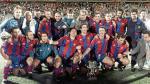 Barcelona y la foto del equipo con los técnicos más exitosos del momento