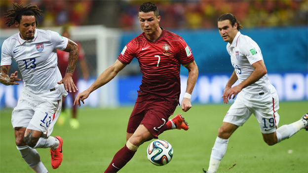 Portugal enfrenta a Estados Unidos por Brasil 2014. (AP)