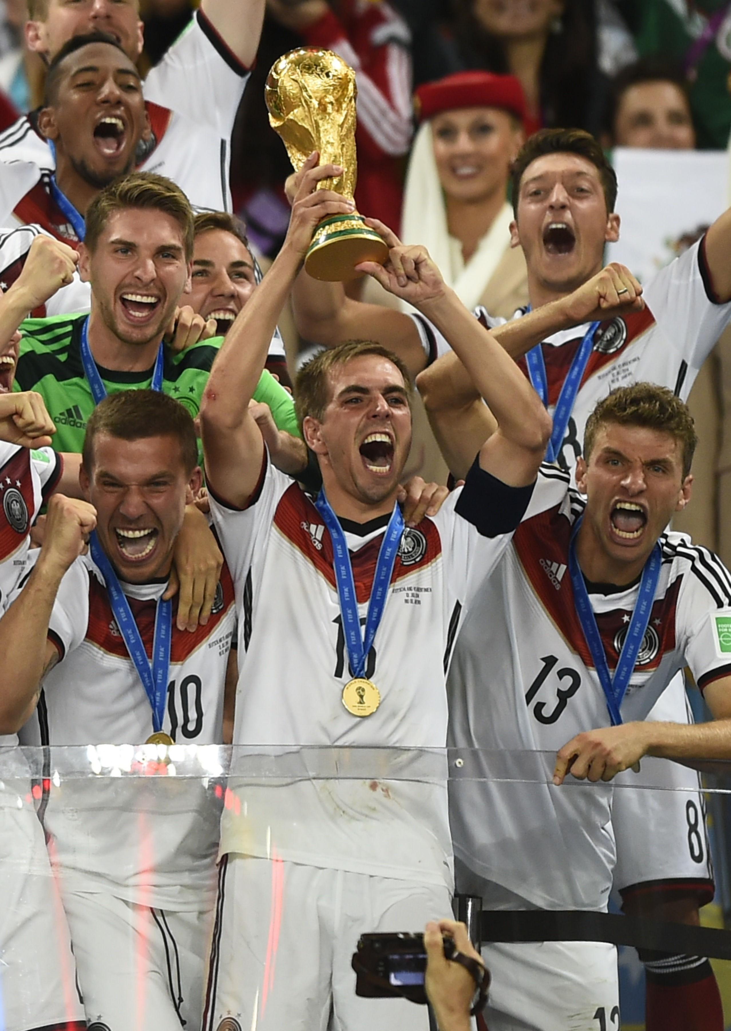los campeones de los mundiales: