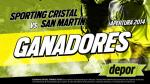 Sporting Cristal vs. San Martín: estos son los ganadores de entradas dobles - Noticias de julio olortegui
