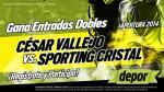 César Vallejo vs. Sporting Cristal: estos son los ganadores de las 25 entradas dobles - Noticias de brenda cruz