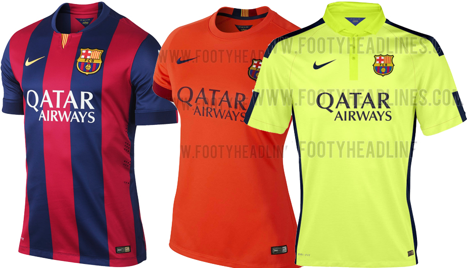 d39d85b17b8fc Barcelona  las camisetas de la temporada 2014-15 a todo detalle (FOTOS)