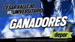 César Vallejo vs. Universitario: estos son los ganadores de las entradas dobles - Noticias de cesar vellejo