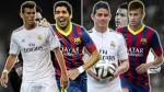 Suárez, James, Neymar y Bale amenazan duopolio Cristiano-Messi (VIDEOS Y GIF)