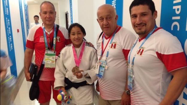 Nanjing 2014: judoka Brillith Gamarra ganó medalla de bronce para el Perú