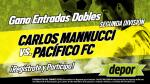 Carlos A. Mannucci vs. Pacífico FC: Depor te regala 10 entradas dobles para este partido - Noticias de casa grande