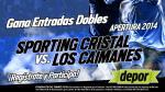 Sporting Cristal vs. Los Caimanes: Depor te regala 10 entrada dobles