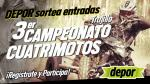 Depor te regala 15 entradas dobles para el Campeonato de Cuatrimotos - Noticias de huanchaco