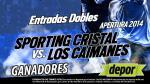 Sporting Cristal vs. Los Caimanes: estos son los ganadores de las entradas dobles