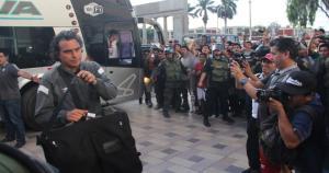 Universitario, dirigido por Chemo del Solar, llegó a Chiclayo esta tarde para enfrentar a Juan Aurich. (Daniel Guerrero)