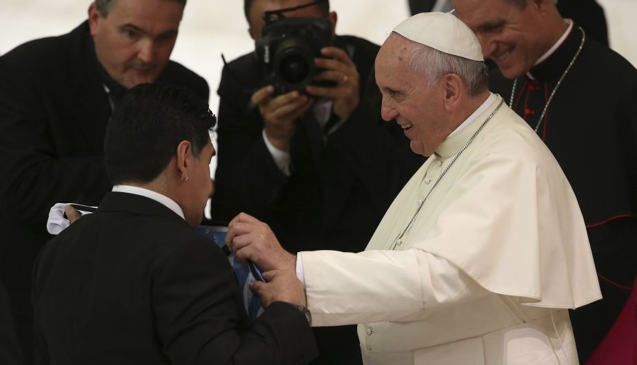 Diego Maradona jugó el Partido por la Paz. (AFP)