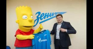 Bart Simpson fue fichado por el Zenit en el último día del mercado de pases. (www.en.fc-zenit.ru)