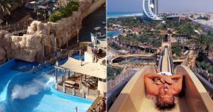 Parque acuático Wild Wadi: tiene piscina de olas, río de aventura con rápidos de ráfting y toboganes de agua a 80 km/h.