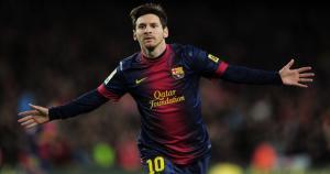 Lionel Messi del Barcelona aparece en la delantera.