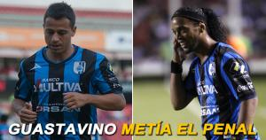 Ronaldinho falló un penal en su debut y fue víctima de los memes tras la derrota del Querétaro. (Internet)
