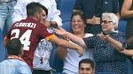 Roma: Alessandro Florenzi se metió hasta la tribuna para festejar con su abuela (VIDEOS)