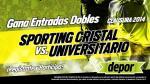 Sporting Cristal vs. Universitario: Depor regala 10 entradas dobles - Noticias de sporting cristal