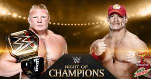 Brock Lesnar y John Cena se enfrentarán en Noche de Campeones. (WWE)