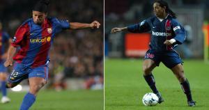 RONALDINHO jugó en sus inicios en el PSG y luego dio el salto al Barcelona. (Internet)