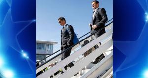 Cristiano Ronaldo encabezó la llegada del merengue a Bulgaria. (Real Madrid)