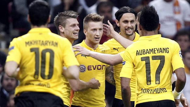 Borussia Dortmund ganó 4-0 al Galatasaray en Turquía