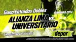 Alianza Lima vs. Universitario: Depor te regala entradas dobles