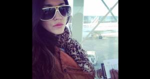 Su primer destino en Europa es Francia. Aquí la vemos en el aeropuerto de ese país. (Instagram) / (SZ)