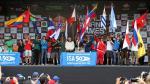 Las banderas de las distintas delegaciones que llegaron a nuestra capital a participar del certamen. (RPP)