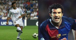 El portugués Luis Figo jugó 5 temporadas en Real Madrid entre 1995 y 2000. Con el Real Madrid ganó la Champions del 2002. (Internet)
