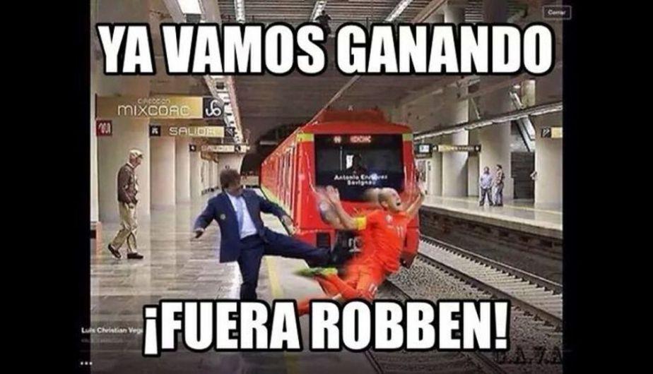 Arjen Robben fue víctima de los memes tras la victoria de México sobre Holanda. (Meme Deportes)