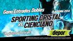 Sporting Cristal vs. Cienciano: Depor te regala 10 entradas dobles - Noticias de sportin cristal