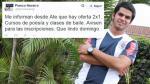 Franco Navarro Jr. se burló de derrota de Universitario por twitter - Noticias de franco navarro jr