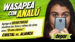 Sporting Cristal vs. Alianza Lima: los mejores mensajes y fotos enviados al Whatsapp de Analú - Noticias de agustin ramirez rodriguez