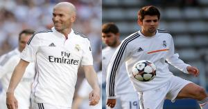 Zinedine Zidane y Enzo Zidane (Real Madrid, 19 años). (GettyImages)