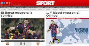 El diario Sport de Cataluña.