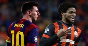 Messi y Luiz Adriano son los únicos jugadores que más goles convirtieron en un solo partido. La 'Pulga' le marcó 5 al Bayer Leverkusen. (Ilustración Depor)