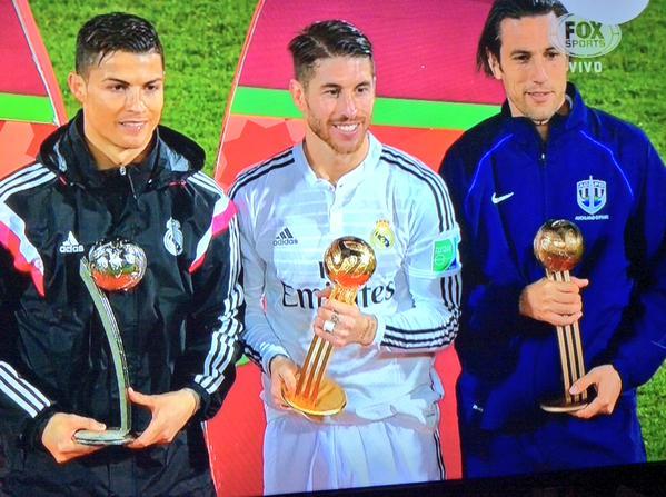 Sergio Ramos, Cristiano Ronaldo e Ivan Vicelich fueron premiados
