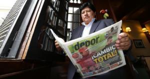 Edwin Oviedo asumirá la presidencia de la FPF el 5 de enero. (Fernando Sangama)