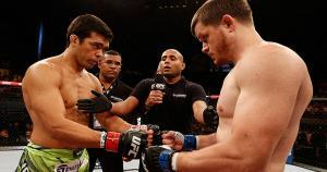 Lyoto Machida y CB Dollaway se enfrentaron en el UFC Fight Night 54. (Getty Images) / (HT)