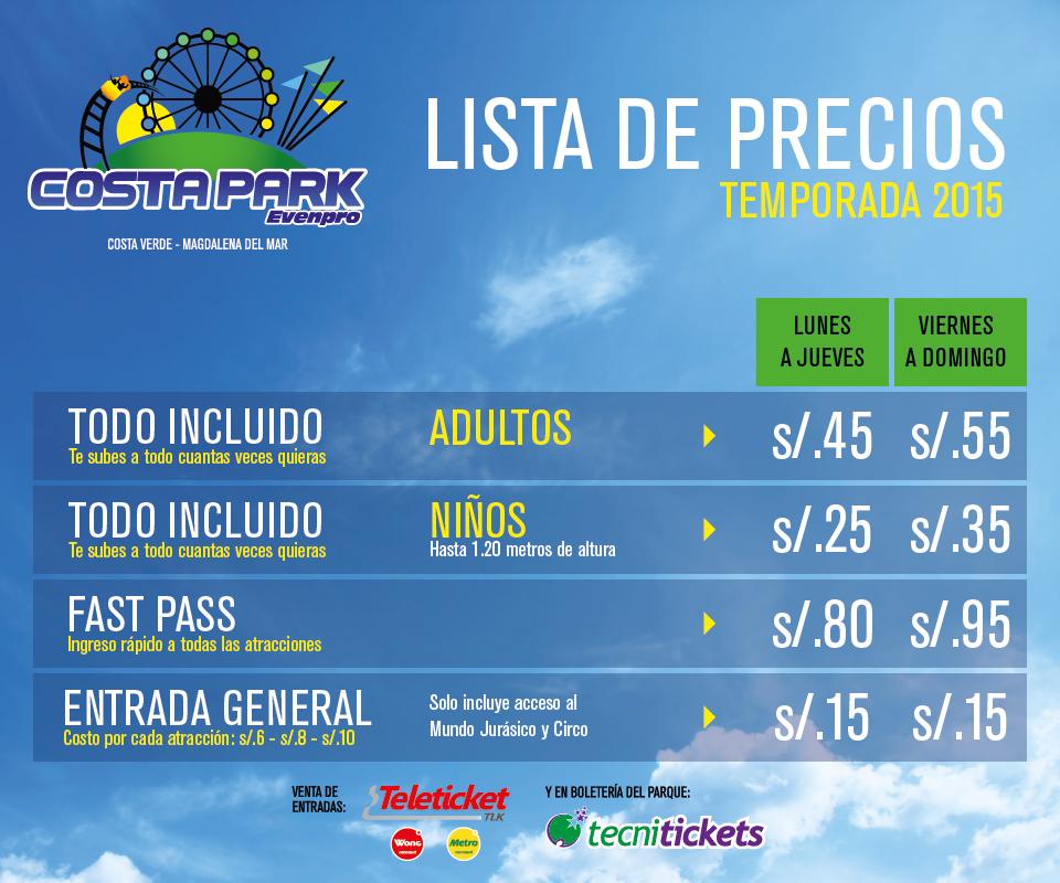 Costa Park Entradas Y Horarios Del Parque De Diversiones Mas Grande