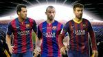 Barcelona y su otro tridente: Gerard Piqué, Javier Mascherano y Sergio Busquets - Noticias de neymar en barcelona